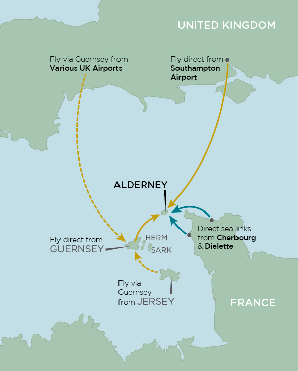 Guernsey England Map.How To Get To Alderney Move To Alderney